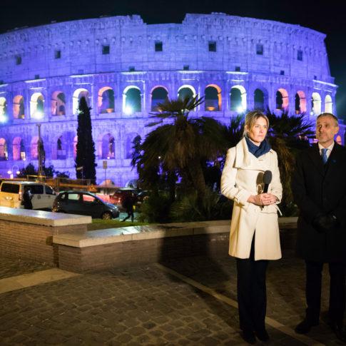 preparazione, tv, colosseo, roma, ambasciata di Finlandia, Finlandia, reportage, roma, servizio