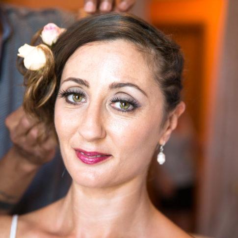 preparazione della sposa, matrimonio, sposa, sposarsi, farsi bella, occhi, rossetto, fabrica di roma, sguardo intenso