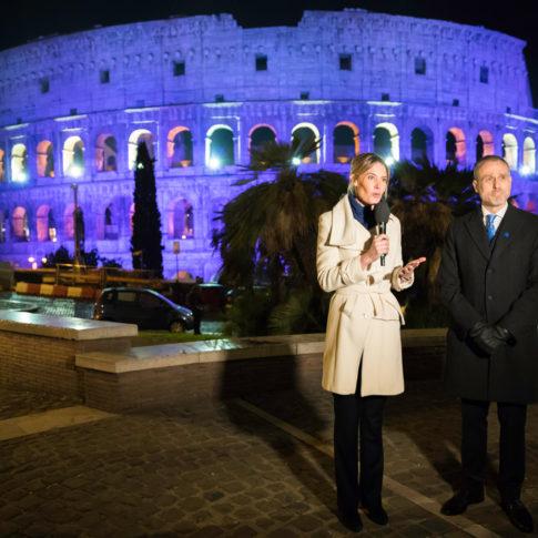 finlandia, suomi 100, anniversario, indipendenza, colosseo, roma, tv finlandese, ambasciatore, colori della finlandia, rome, reportage